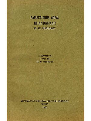 Ramakrishna Gopal Bhandarkar: As an Indologist (An Old and Rare Book)