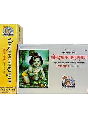 श्रीमद्भागवतमहापुराण Shrimad Bhagavata Purana: Set of 2 Volumes (Horizontal Edition)