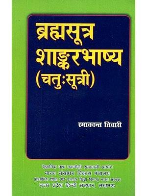 ब्रह्मसूत्र शांकर भाष्य (चतु:सूत्री) Brahma Sutra Shankar Bhashys on Chatuhsutri