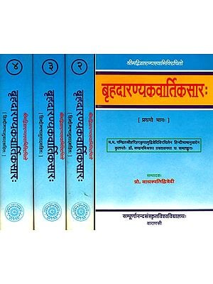 बृहदारण्यकवार्तिकसार (संस्कृत एवं हिंदी अनुवाद): Brihadaranyaka Vartika Sara of Vidyaranya (Set of 4 Volumes)
