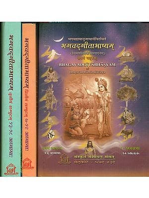 भगवद्गीताभाष्यम्: Ramanuja's Commentary on the Gita with Explanation (Set of 3 Volumes)