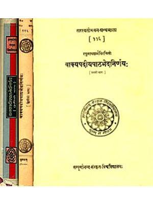 वाक्यपदीयपाठभेदनिर्णाय: Vakyapadiya Textual Varitions (Set of 3 Volumes) (An Old and Rare Book)