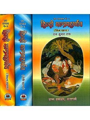हिन्दी मन्त्रमहार्णव - मिश्र खंड,  देवी खंड और देवता खंड (संस्कृत एवम् हिन्दी अनुवाद): Hindi Mantra Maharnava- Mishra, Devi and Devata Khand (Set of 3 Volumes)