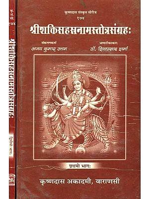 श्रीशक्तिसहस्त्रनामस्तोत्रसंग्रहः (संस्कृत एवं हिंदी अनुवाद)- Collection of Thousand Names of Different Shaktis (Set of 2 Volumes)