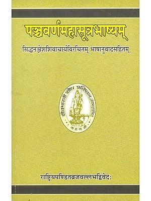 पञ्चवर्णमहासूत्रभाष्यम्: Panchavarna Mahasutra Bhashyam