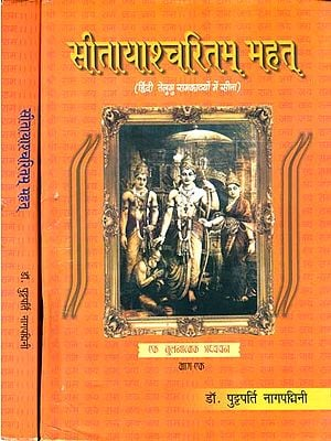 सीतायाश्चरितम् महत्: Sita in Hindi and Telugu Rama Kavyas (Set of 2 Volumes)