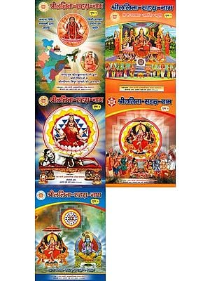 श्री ललिता सहस्र नाम: Shri Lalita Sahasranama  (Set of 5 Volumes)