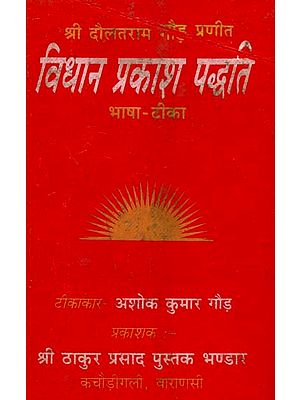 विधान प्रकाश पद्धति: How to Worship Different Gods (An Old Book)