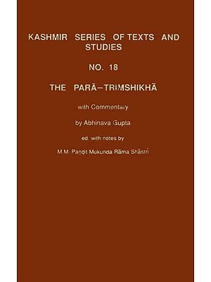 The Para Trimshikha With Commentary of Abhinavagupta