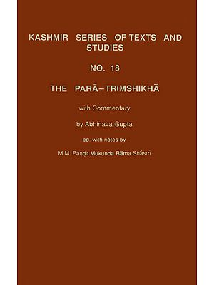 The Para Trimshikha With Commentary of Abhinava Gupta