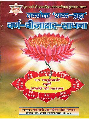 तन्त्रोक्त 'शब्द ब्रह्म' वर्ण बीजाक्षर साधना: Shabda Brahma Sadhana