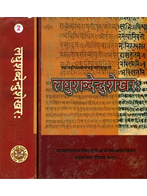 लघुशब्देन्दुशेखर: Laghu Shabdendu Shekhar (Set of 2 Volumes)