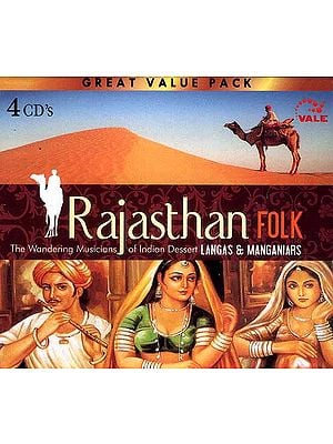 Rajasthan Folk (The Wandering Musicians of Indian Desert Langas & Manganiars) (Set Of Four Audio CD's)