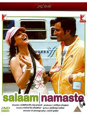 Salaam Namaste: A Story about an Indian Live-in Relationship (Hindi Film DVD with Optional Subtitles in English/French/Arabic/Spanish/ Portugese/Dutch/)