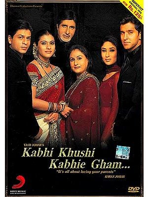 "Sometimes Happiness Sometimes Pain…..""It's All About Loving Your Parents"" (Hindi Film DVD with English Subtitles) (Kabhi Khushi Kabhie Gham)"
