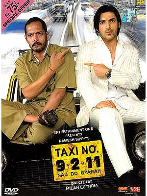 Taxi No 9 2 11: A Frustrated Acidic Taxi Driver is Pitted Against an Equally Caustic Man, Heir to a Multimillion Rupee Legacy  (Comedy Hindi Film DVD with English Subtitles) (Taxi No Nau Do Gyarah)