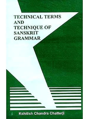 Technical Terms And Technique Of Sanskrit Grammar
