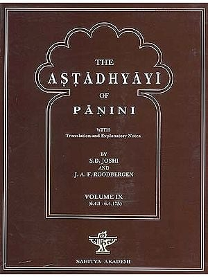 The Astadhyayi of Panini: Volume IX (6.4.1 - 6.4.175)
