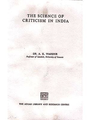 The Science Of Criticism In India