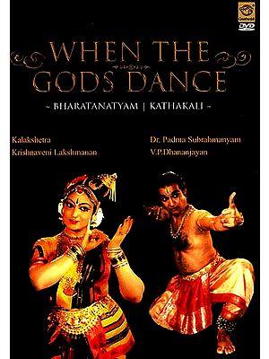 When The Gods Dance- Bharatanatyam Kathakali (Kalakshetra Krishnaveni Lakshmanan & Dr. Padma Subrahmanyam, V.P.Dhananjayan) ( DVD Video)