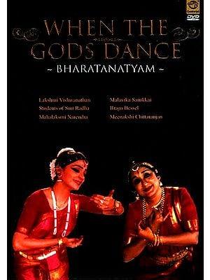 When The Gods Dance- Bharatanatyam  (Lakshmi Vishwanathan, Students of Smt Radha, Mahalaksmi Narendra, Malavika Sarukkai, Braga Bessel & Meenakshi Chittaranjan ) (DVD Video)