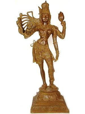 Large Size Ardhanarishvara : The Half Male and Half Female Form of Shiva