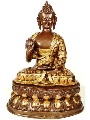 Buddha with the Patchwork Monk Robe