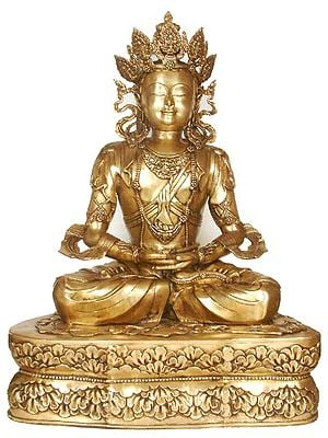 Large Size Crowned Buddha in the Dhyana Mudra