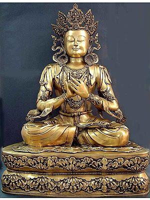 Tibetan Buddhist Deity Large Size Crowned Buddha