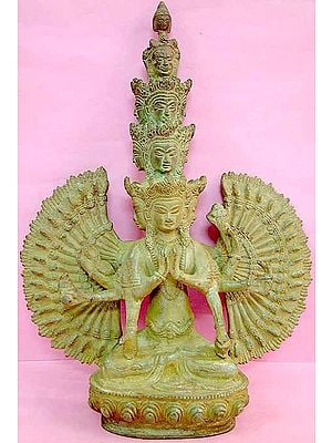 Tibetan Buddhist Deity Eleven Headed Thousand Armed Avalokiteshvara