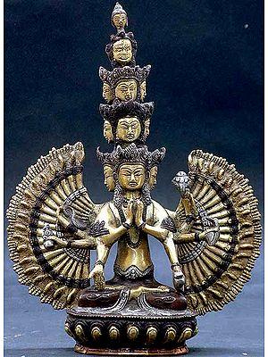 (Tibetan Buddhist Deity) Eleven Headed Thousand Armed Avalokiteshvara