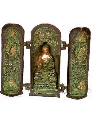Tibetan Buddhist Folding Temple of Buddha