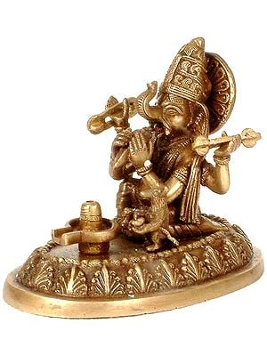 Ganesha Worships the Shivalinga