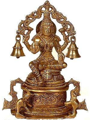 Goddess Lakshmi with Elephants & Bells