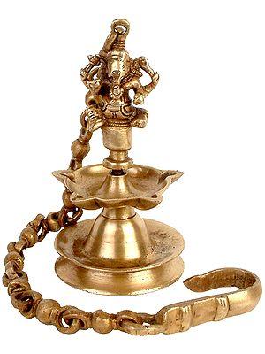 Hanging Ganesha Lamp