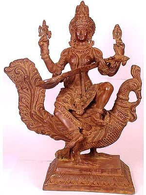 Large Size Hansarooda Veena- vadini (A Masterpiece)
