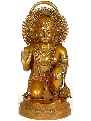 Hanuman in Abhaya Mudra