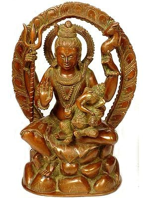 Lord Shiva with Ganesha in His Lap