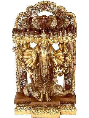 Lord Vishnu in His Cosmic Magnification