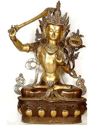 Tibetan Buddhist Deity- Large Size Manjushri, Buddhist God of Wisdom