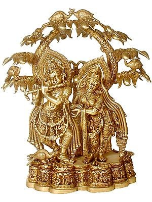 Large Size Radha Krishna Under the Kadamba Tree