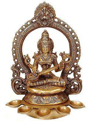 Saraswati with Five Lamps