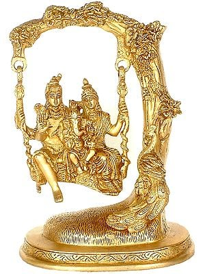Shiva Swings with Parvati & Ganesha