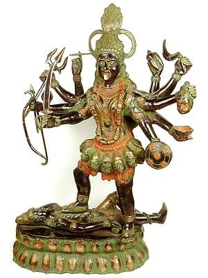 (Large Size) Ten-Armed Black Kali, or Mahakali