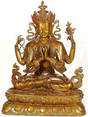 Tibetan Buddhist Deity Large Size Four-Armed Avalokiteshvara