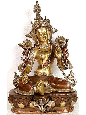The Goddess Green Tara (Tibetan Buddhist Deity)