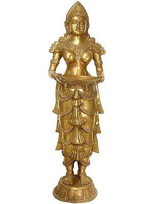 Large Size Vijayanagara Deeplakshmi