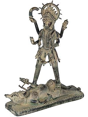 Goddess Kali: Tribal Statue from Bastar