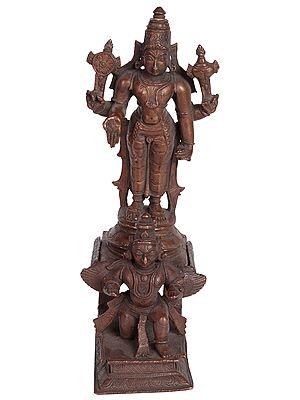 Lord Vishnu Standing on Garuda Chowki