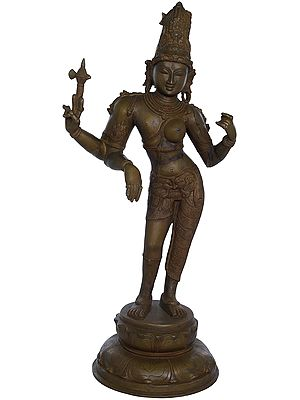Ardhanarishvara (Shiva-Shakti), With The Towering Jatamukuta
